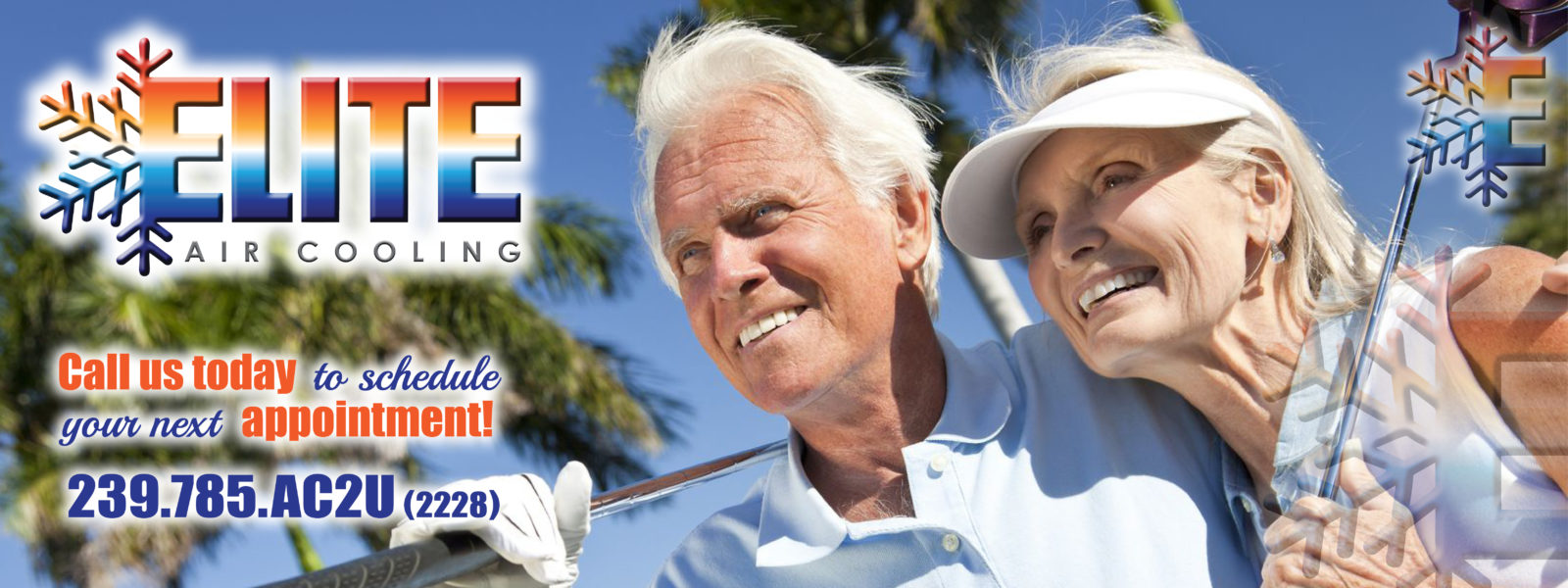 Man and woman happy Elite Air Cooling Ft Myers Fl 33913 239-785-2228